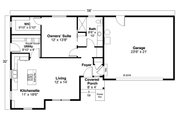 Country Style House Plan - 1 Beds 1 Baths 900 Sq/Ft Plan #124-1170 Floor Plan - Main Floor Plan