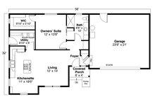 Country Floor Plan - Main Floor Plan Plan #124-1170