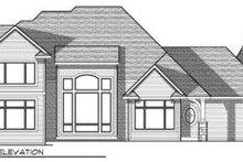 Architectural House Design - European Exterior - Rear Elevation Plan #70-720