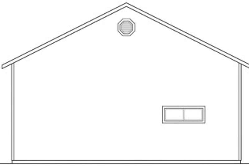 Traditional Exterior - Rear Elevation Plan #124-662 - Houseplans.com