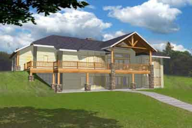 Modern Exterior - Front Elevation Plan #117-457 - Houseplans.com