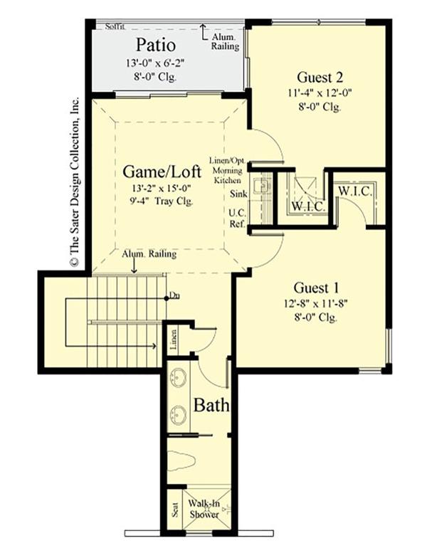 Country Floor Plan - Upper Floor Plan #930-495
