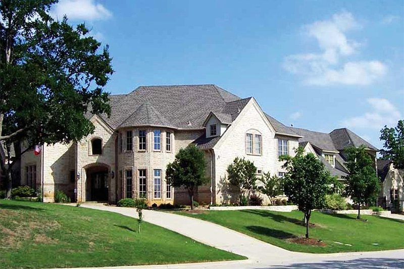 European Style House Plan - 4 Beds 4 Baths 7447 Sq/Ft Plan #84-293 Exterior - Front Elevation
