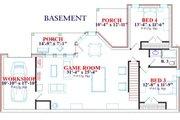 European Style House Plan - 5 Beds 3 Baths 3257 Sq/Ft Plan #63-127 Floor Plan - Lower Floor Plan