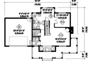 Country Style House Plan - 3 Beds 2 Baths 1708 Sq/Ft Plan #25-4318 Floor Plan - Main Floor Plan