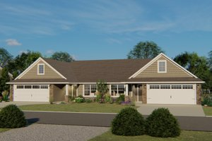 Craftsman Exterior - Front Elevation Plan #1064-38