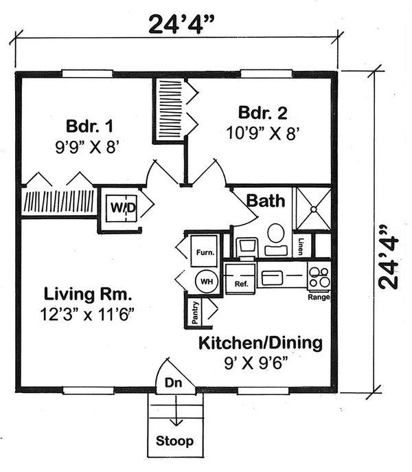 Cottage Floor Plan - Main Floor Plan #312-358