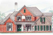 Southern Exterior - Front Elevation Plan #54-172