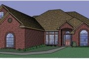 Traditional Style House Plan - 3 Beds 3 Baths 2718 Sq/Ft Plan #65-353 Exterior - Front Elevation
