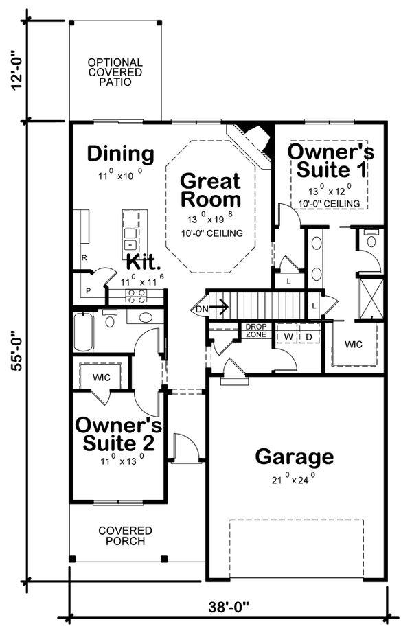 Dream House Plan - Farmhouse Floor Plan - Main Floor Plan #20-2355