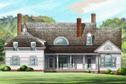 Southern Style House Plan - 4 Beds 3 Baths 3201 Sq/Ft Plan #137-234 Exterior - Rear Elevation