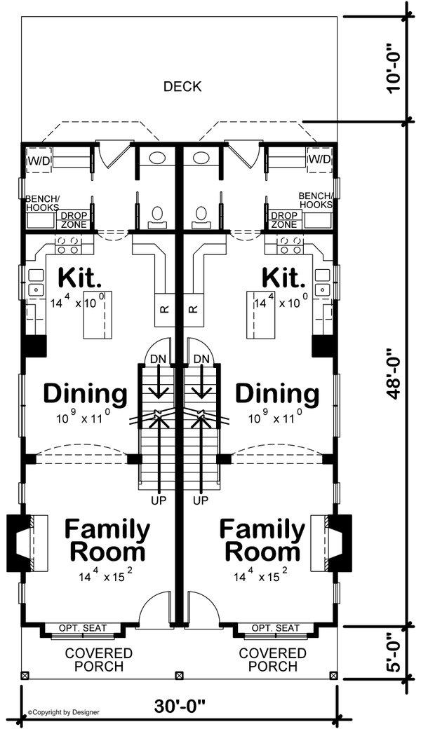Traditional Floor Plan - Main Floor Plan #20-2465