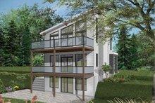 Contemporary Exterior - Rear Elevation Plan #23-2660