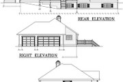 Ranch Style House Plan - 3 Beds 2 Baths 2270 Sq/Ft Plan #100-462 Exterior - Rear Elevation