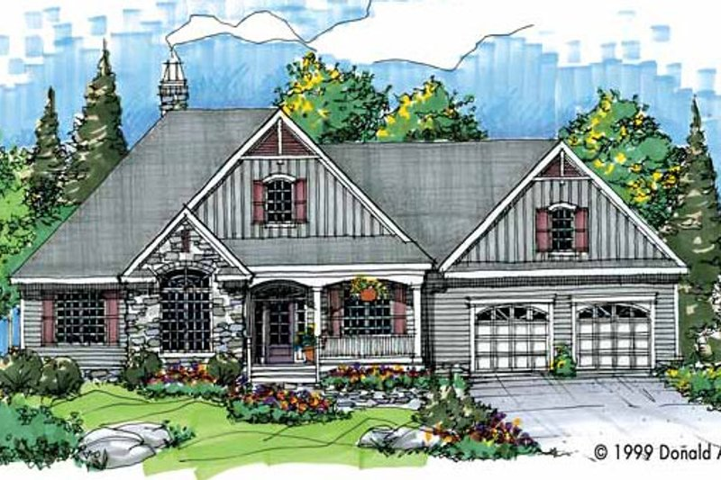 Home Plan - Victorian Exterior - Front Elevation Plan #929-427
