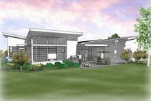Home Plan - Modern Exterior - Rear Elevation Plan #48-479