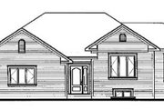 Traditional Style House Plan - 1 Beds 1 Baths 1126 Sq/Ft Plan #23-163 Exterior - Rear Elevation