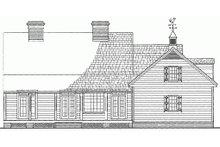 Classical Exterior - Rear Elevation Plan #137-124