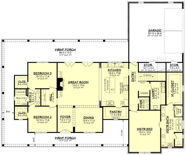 House Plan Design - Farmhouse Floor Plan - Main Floor Plan #430-223