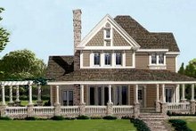 Dream House Plan - Victorian Exterior - Front Elevation Plan #410-112