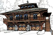 Craftsman Style House Plan - 2 Beds 2 Baths 1066 Sq/Ft Plan #921-16 Exterior - Front Elevation