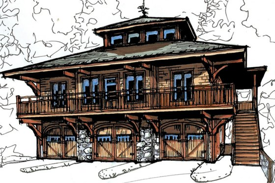 Craftsman Exterior - Front Elevation Plan #921-16