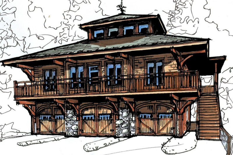 Craftsman Style House Plan - 2 Beds 2 Baths 1066 Sq/Ft Plan #921-16