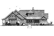 Log Style House Plan - 3 Beds 3.5 Baths 4100 Sq/Ft Plan #942-43 Exterior - Front Elevation