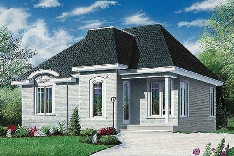 European Exterior - Front Elevation Plan #23-177