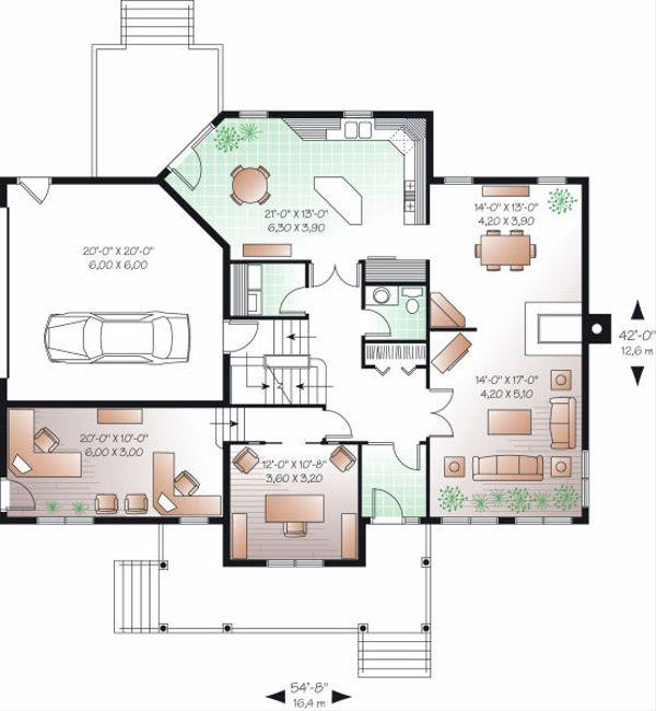 Traditional Floor Plan - Main Floor Plan Plan #23-845