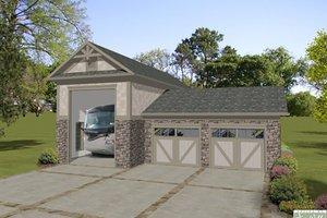 Craftsman, Southern, 3 car garage, Front Elevation,