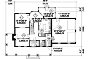 Country Style House Plan - 3 Beds 1 Baths 2371 Sq/Ft Plan #25-4776 Floor Plan - Main Floor Plan