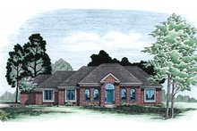 House Plan Design - European Exterior - Front Elevation Plan #20-103