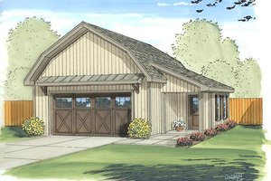 Country Exterior - Front Elevation Plan #455-72