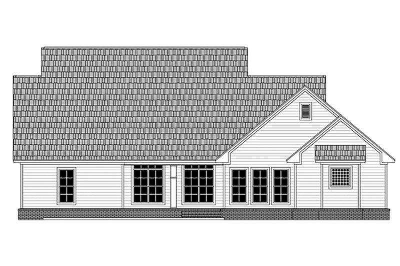 Country Exterior - Rear Elevation Plan #21-378 - Houseplans.com