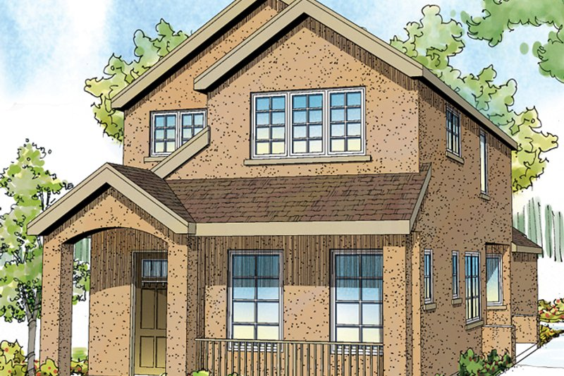 Exterior - Front Elevation Plan #124-878