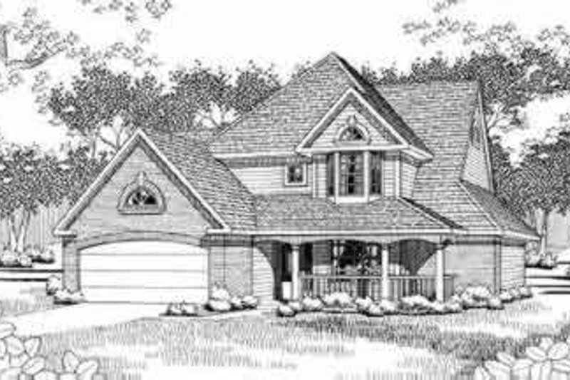 Dream House Plan - Traditional Exterior - Front Elevation Plan #120-153