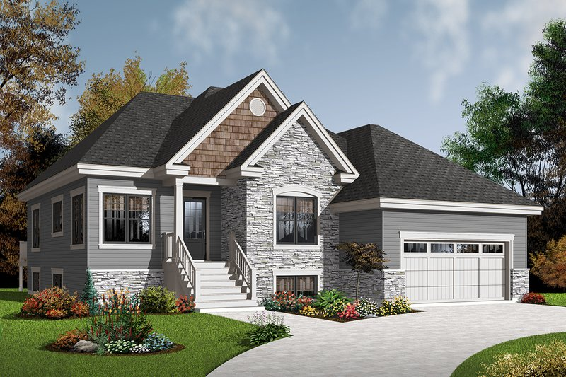 Dream House Plan - Country Exterior - Front Elevation Plan #23-2526