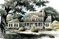Colonial Style House Plan - 4 Beds 3.5 Baths 3021 Sq/Ft Plan #429-21 Exterior - Front Elevation