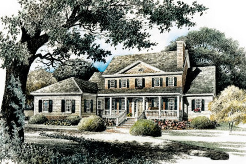 Dream House Plan - Colonial Exterior - Front Elevation Plan #429-21