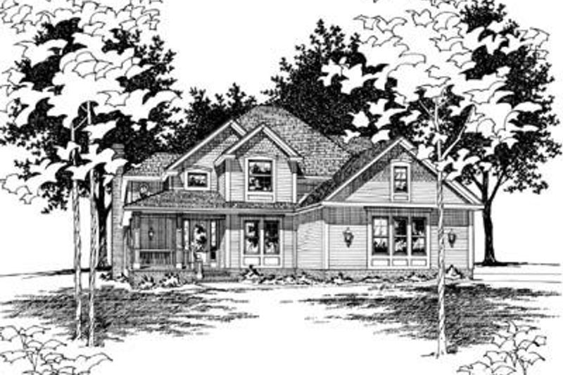 Traditional Exterior - Front Elevation Plan #20-761 - Houseplans.com