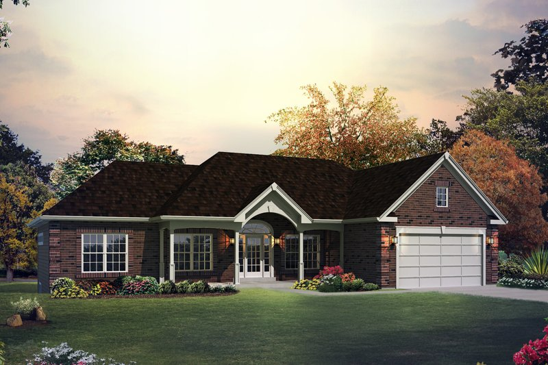 Home Plan Design - Ranch Exterior - Front Elevation Plan #57-607