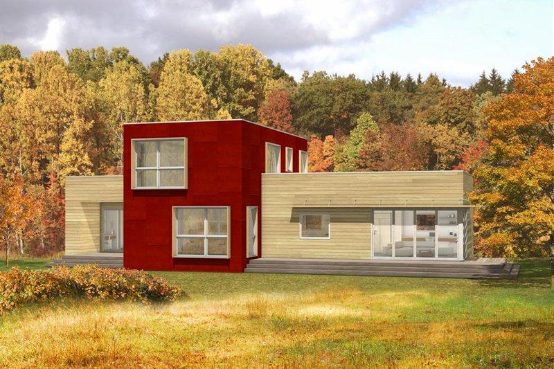 House Plan Design - Modern, Front elevation