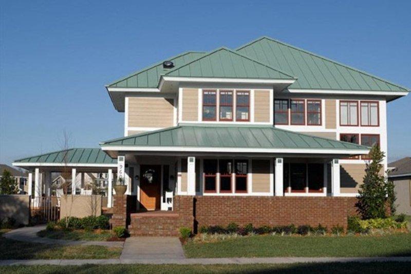 Prairie Style House Plan - 3 Beds 2.5 Baths 2660 Sq/Ft Plan #454-6