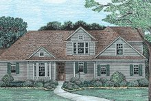 Traditional Exterior - Front Elevation Plan #20-612