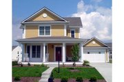 Craftsman Style House Plan - 3 Beds 4 Baths 3496 Sq/Ft Plan #458-11 Exterior - Front Elevation