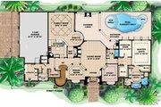 Mediterranean Style House Plan - 4 Beds 5.5 Baths 4798 Sq/Ft Plan #27-386 Floor Plan - Main Floor Plan