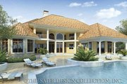 Mediterranean Style House Plan - 4 Beds 3.5 Baths 4759 Sq/Ft Plan #930-42 Exterior - Rear Elevation