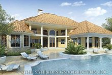 Home Plan - Mediterranean Exterior - Rear Elevation Plan #930-42