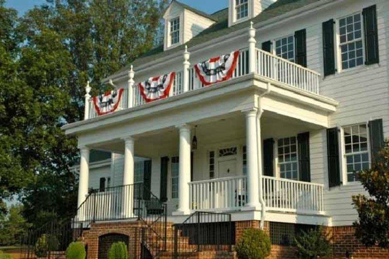 Farmhouse Exterior - Front Elevation Plan #137-166 - Houseplans.com